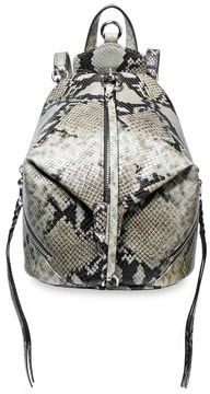 Rebecca Minkoff Julian Convertible Snake-effect Leather Backpack