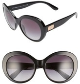 Dolce & Gabbana Women's 57Mm Round Sunglasses - Black