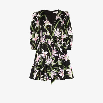 Borgo de Nor Anita floral print cotton mini dress
