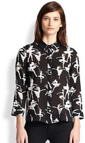 Alice + Olivia Willa Ballerina-Print Top