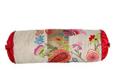 Floral Embroidered Pillow