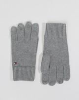 Tommy Hilfiger Cashmere Mix Gloves In Grey