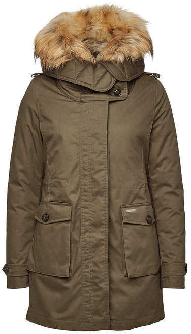 Woolrich Scarlett Down Parka with Fur-Trimmed Hood