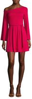 Susana Monaco Tasha One Off Shoulder Mini Dress