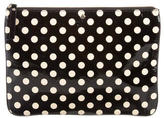 Kate Spade Patent Leather Polka Dot Clutch