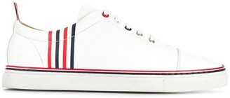 Thom Browne Contrast 4-Bar Emboss Trainer