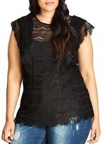 City Chic Victorian Vixen Lace Top