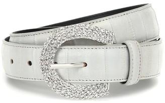 Alessandra Rich Embellished leather belt