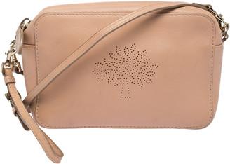 Mulberry Peach Leather Crossbody Bag