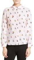 Ted Baker Women's Fly Fish Print Silk Shirt