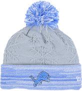New Era Women's Detroit Lions Snow Crown Redux Knit Hat