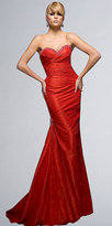Strapless Fitted Evening Gowns by Tony Bowls