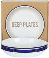 Falcon Deep Plate - Set of 4 - Original White with Blue rim