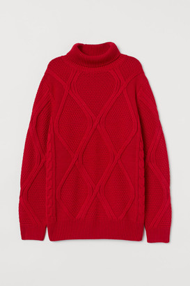 H&M Knit Turtleneck Sweater - Red