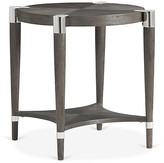 One Kings Lane Duvall Round Side Table - Coffee - frame, coffee; hardware, nickel