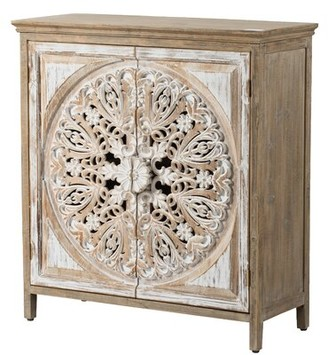 Bungalow Rose Havran Wooden 2 Door Accent Cabinet