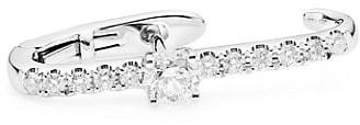 Anita Ko Diamond & 18K White Gold Single Lobe Earring