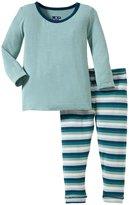 Kickee Pants Print Pajama Set (Baby) - Dino Stripe-3-6 Months