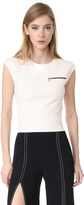 Thierry Mugler Sleeveless NeopreneTop