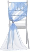 Remedios 21x70 Inch Wedding Chair Sashes Cover Clips Party Decoration Baby Blue