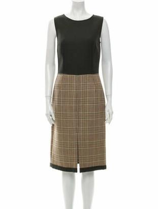 Dolce & Gabbana Virgin Wool Midi Length Dress Wool