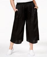 Soprano Trendy Plus Size Pleated Gaucho Pants