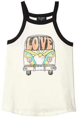 Tiny Whales Love Bus Tank (Toddler/Little Kids/Big Kids) (Natural) Girl's Clothing