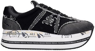 Premiata Beth Sneakers In Black Synthetic Fibers