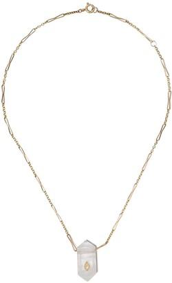 Pascale Monvoisin 9kt yellow gold diamond Prana N1 necklace