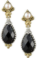 Konstantino Onyx & Pearl Drop Earrings