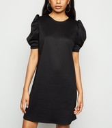 New Look Petite Puff Sleeve Tunic Dress