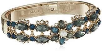 Marchesa Women's Gold/ Multi Bangle Bracelet