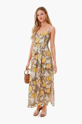 Lemon Tree Long Puff Waist Dress