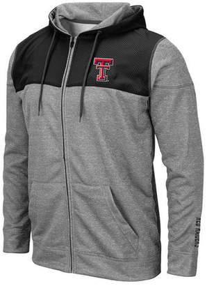 Colosseum Men Texas Tech Red Raiders Nelson Full-Zip Hooded Sweatshirt