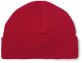 Ami Textured Merino Wool Beanie - Red