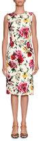 Dolce & Gabbana Sleeveless Floral Brocade Sheath Daytime Dress