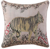 Tracy Porter Fleur Embroidered Tiger Pillow