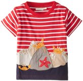 Jo-Jo JoJo Maman Bebe Rock Crabs T Shirt (Baby) - Red/White Stripe-18-24 Months