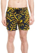 Vilebrequin Men's Superflex Gold Palms Print Swim Trunks