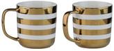 10 Strawberry Street Gold Stripe Mug - Set of 2