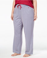 Nautica Plus Size Printed Knit Pajama Pants