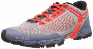 Salewa WS Lite Train Knitted Trail Running Shoes Women's Blue (Blue Fog/Fluo Coral) 3.5 UK