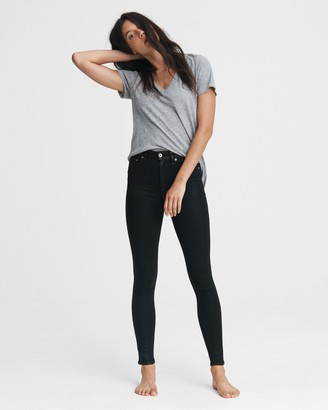 Rag & Bone Nina high-rise skinny - coated black