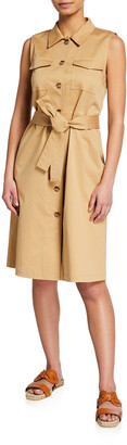 Lafayette 148 New York Sonny Sleeveless Shirtdress