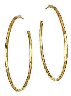 Nest Women's 22K Yellow Goldplated Hoop Earrings