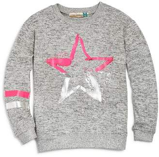 Vintage Havana Girls' Neon Star Sweatshirt - Big Kid