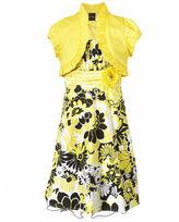 Sequin Hearts Kids Dress, Girls Floral Poplin Dress and Shrug
