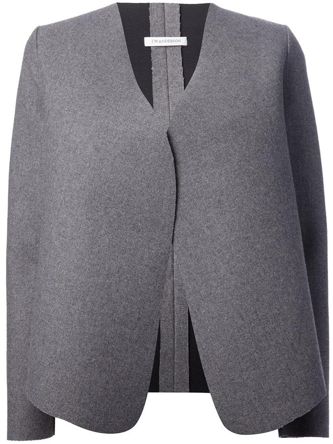 J.W.Anderson wool blend v-neck wrap jacket