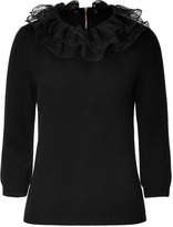 Marc by Marc Jacobs Black Sonia Top with Removable Collar