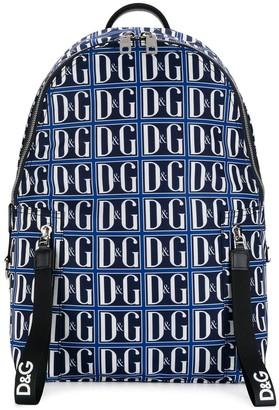 Dolce & Gabbana blue logo backpack